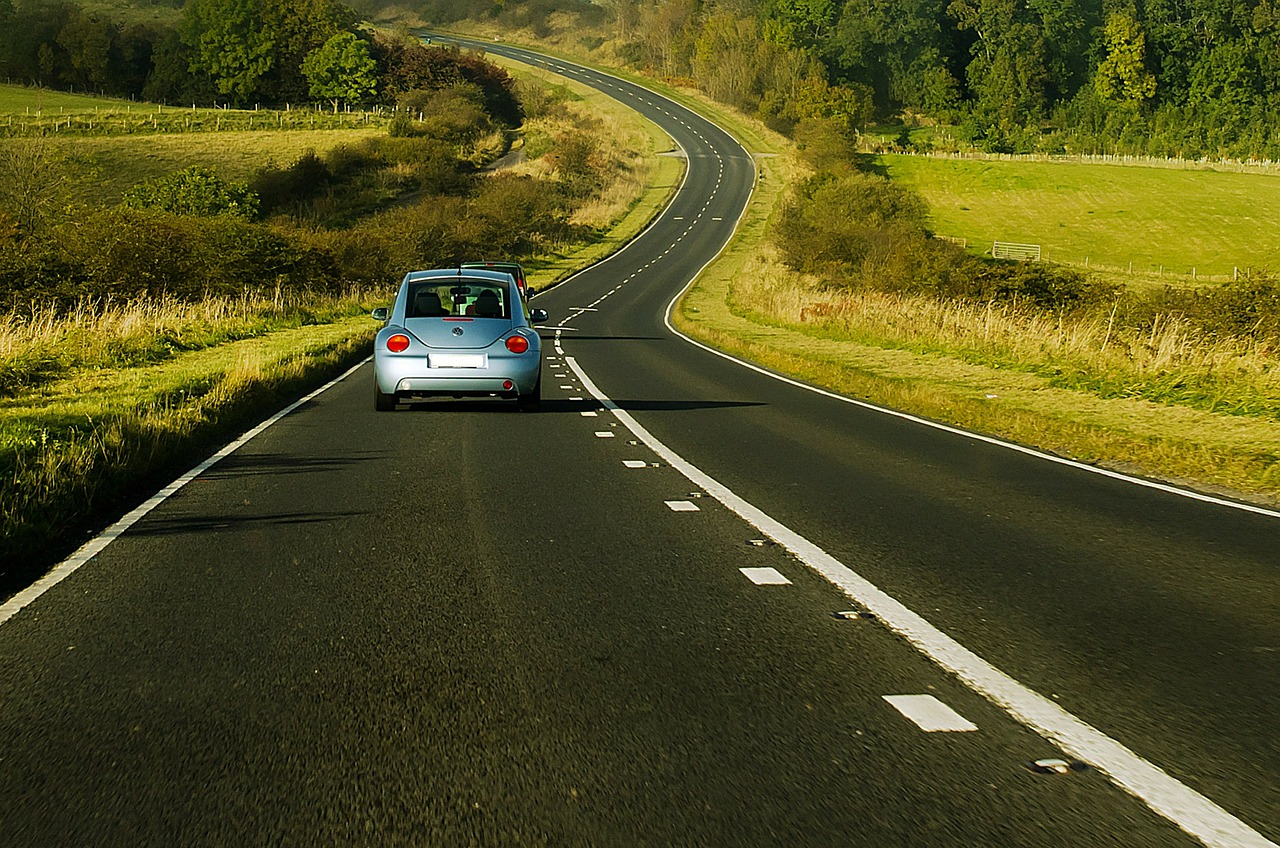 Car on a winding road